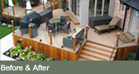 view before and after landscape design gallery