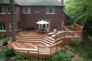 Multi-level Cedar Deck